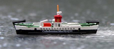 A 1/1250 scale model of Calmac ferry Loch Linnhe by Rhenania Junior Miniatures RJ336.