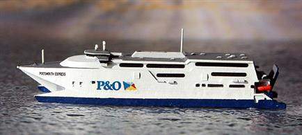 A 1/1250 scale model of Portsmouth Express by Rhenania Junior Miniaturen RJ245A.