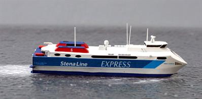 A 1/1250 scale model of Stena Carisma from 2006 until 2011 by Rhenania Junior RJ324A.