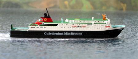 A 1/1250 scale model of MV Hebrides by Rhenania Junior Miniatures RJ 197.