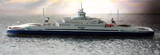 A 1/1250 scale model of Ro-Ro ferry Basto VI by Rhenania Junior Miniatures RJ244.