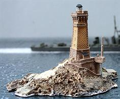 A 1/1250 scale resin model of La Vielle lighthouse off the Point du Raz in France.