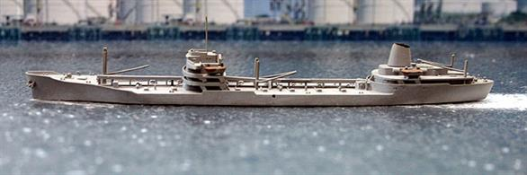 A 1/1250 scale second hand model of USNS Maumee by Trident T165. The model is in very good condition but missing a derrick on the port side forward, see photograph.