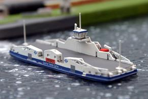 A 1/1250 scale model of the new Woolwich ferry Dame Vera Lynn by Rhenania Junior RJ334.