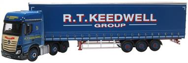 Oxford Diecast 76MB011 1/76th Mercedes Actros GSC Curtainside R T Keedwell