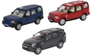 Oxford Diecast 76SET71 3 Piece Land Rover Discovery Set