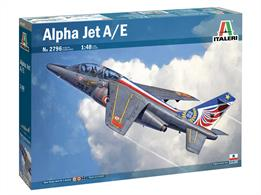Italeri 2796 1/48th Alpha Jet Trainer Aircraft Kit