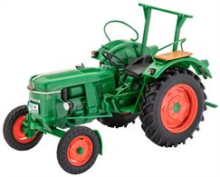 Number of Parts 96  Length 131mm  Width 68mm  Height 84mmSimple model kit for the very popular Deutz D30, released in 1961, which was the best-selling agricultural tractor in its class at the beginning of the 60s.