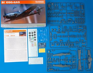 ProfiPACK edition kit of German WWII fighter plane Bf 109G-6/AS in 1/48 scale