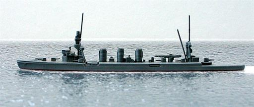 Secondhand Mini-ships Comet 2 Kuma class Japanese light cruiser in WW2 1/1250