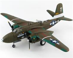 Detailed 1:72 scale diecast model of Douglas A-20G Havoc 43-21475 flying as 'Little Joe' early in 1945 with the 389th Bombardment Squadron of the 312th Bombardment Group, 5th Air Force.