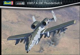 Revell 03857 1/72nd A-10 A/C thunderbolt II Ground Attack Aircraft KitNumber of Parts   Length mm   Wingspan mm   Height mm