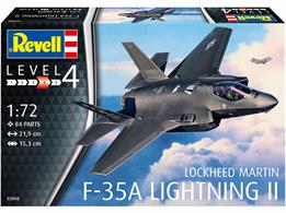 Revell 03868 1/72nd F-35A Lightning Fighter Aircraft KitNumber of Parts 84  Length 219mm   Wingspan 153mm   Height mm