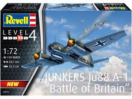 Revell 04972 1/72nd Junkers JU-88 A-1 Battle of Britain Bomber Aircraft KitNumber of Parts 04972  Length 201mm   Wingspan 255mm