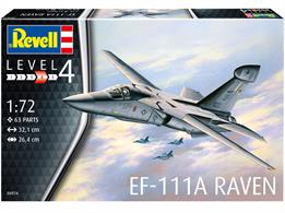Revell 04974 1/72nd EF-111A Raven Bomber Aircraft KitNumber of Parts   Length mm   Wingspan mm   Height mm
