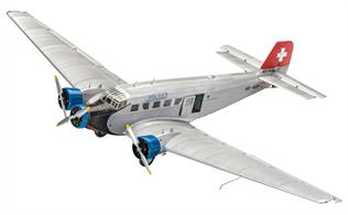 Revell 04975 1/72nd Junkers Ju52/3m Civil Aircraft KitNumber of Parts 196    Length 262 mm   Wingspan mm   Height mm