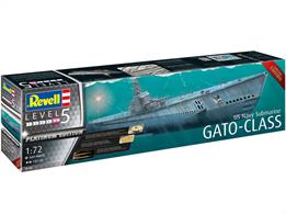 Revell 05168 1/72nd US Navy Gato Class Submarine Platinum Edition Plastic KitNumber of Parts 569  Length 1320mm