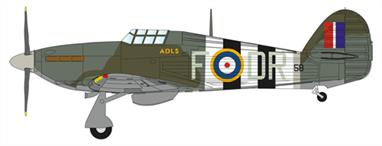 D-Day markings worn by Hurricane PZ758 DR-F of RAF Transport Command, Air Letter Despatch Service, RAF Northolt.
