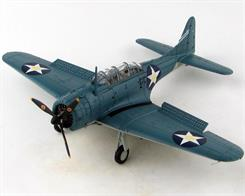 Detailed 1:72 scale model of the Douglas SBD-3 Dauntless aircraft flown by Lieutenant Commander C. Wade McClusky, Air Group Commander aboard USS Enterprise during the Battle of Midway, 4 June 1942.