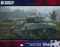 This kit builds a model of the M4A2(76)W version of the Sherman tank. Much of the production of this variant was sent to the USSR, though the variant also served with allied British, New Zealand, Polish and Free French forces.Number of Parts: 92 pieces / 6 sprues