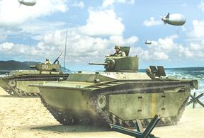 This kit for the USMC LVT(A) Amtank armed fire support versions of the landing vehicle tracked can be built as a LVT(A)-1 with the turret from a Stuart light tank or LVT(A)-4 with the howitzer turret from the M8 HMC.Number of Parts: 85 pieces / 3 sprues