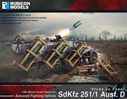 This highly detailed plastic kit depicts a SdKfz 251 Ausf D with a Wurfrahmen 40 multiple rocket launcher.  The Wurfrahmen 40 frame is detachable enabling you to revert the vehicle into a standard SdKfz 251/1D personnel carrier.Number of Parts: 70 pieces / 3 sprues