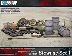 Stowage for German armoured vehicles.Number of Parts: 94 pieces / 2 identical sprues