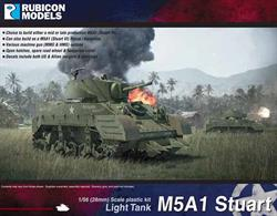 The M5A1 light tank was essentially an M5 with the larger turret first introduced on the M3A3. Production began in early 1943, and a total of 6,810 M5A1s were produced. By June 1944, the US Army had almost most entirely switched to the M5A1. It was also used by the US Marines.