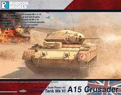 This 3 sprue kit enables you to build six variants of the A15 Crusader, including the Mk I / I CS / II / II CS / III / AA (Mk II/III), the CS standing for Combat Support, with a 3 inch howitzer in the turret instead of the 2-pounder.Number of Parts: 70 pieces / 3 sprues