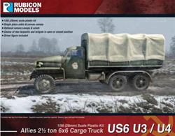 This highly detailed plastic kit builds the long wheelbase version of the Studebaker US6 2½ ton 6x6 truck, either without a winch (model U3) or with (model U4). The kit includes the metal cab (moulded as a single piece) and optional canvas canopy, as well as a choice of an open or closed rear tarpaulin cover and tailgate.Number of Parts: 34 pieces / 2 sprues