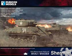 The M4A3, powered by the excellent Ford GAA V8 engine, was the US Army's preferred Sherman variant. It began to replace other Sherman types in US Army service in 1944. This kit contains the parts to build either an early or late version of the M4A3(76mm)W, or M4A3E8 with HVSS suspension. It also includes an optional set of tracks fitted with extended end connectors. The hull and cupola hatches are separate, and a commander figure and stowage items are included.Number of Parts: 115 pieces / 4 sprues