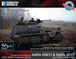 Expansion kit only. Suitable for use with SdKfz 250/251 kits 280018, 280031, 280032.This expansion pack allow the SdKfz 250 or SdKfz 251 half track to be modelled equipped as a tank hunter with a 2.8cm sPzB 41 anti-tank rifle. Parts are supplied to convert 2 vehicles.Number of Parts: 51 pieces plus 2 figure sprues