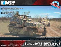 Expansion kit only. Suitable for use with SdKfz 250/251 kits 280018, 280032, 280038.This expansion pack provides the parts needed to model the reconnaissance variants of the SdKfz 250 and SdKfz 251 half tracks with enough parts to convert 2 vehicles.Number of Parts: 46 pieces plus 2 figure sprues
