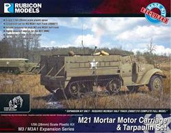 Expansion kit only. Suitable for use with US/Allied M3/M3A1 half track kit 280027.This expansion pack provides the parts needed to model the M21 MMC Mortar Motor Carriage, a M3/M3A1 half track fitted with an 81mm mortar and Browning machine gun. Includes tarpaulins for both half track versions.Number of Parts:44 pieces / 1 sprue + 3 figure sprues