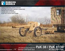 This kit builds either the PaK 38 or PaK 97/37 anti-tank gun. These 7.5cm guns were capable of taking on the Soviet T34 tanks. Includes 5 gun crew figures.