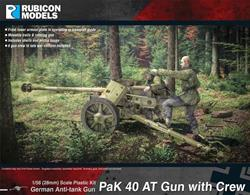 This kit builds a German 7.5cm PaK 40 anti-tank gun with a set of 5 gun crew figures, shell and ammunition case details. These guns were introduced from late 1941 and used until the end of the war.Number of Parts: 71 pieces / 3 sprues + 1 cab body