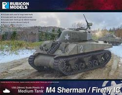 This kit builds a M4 Sherman tank fitted with the British long barrel QF 17-pounder anti-tank gun in place of the original American short barrel gun. Firefly tanks were often mixed with standard Shermans to provide units with a powerful anti-tank weapon.