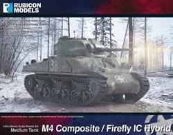 This kit provides the parts needed to build several variants of the M4 Sherman tank with both high and low bustle turrets, guns for standard or Firefly 1C, multiple mantlet choices, open or closed hatches and crew figure set.