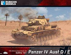 Model kit of the Panzer IV which can be built as either Ausf D or Ausf E variants with a choice of open or closed hatches and a range of optional stowage details.