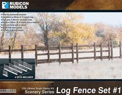 Log construction country fence set containing sufficient pieces to assemble 180cm/70¾in of fence.Number of Parts: 48 pieces / 4 identical sprues