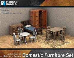 Ideal for use with any town or city diorama this set contains domestic furniture for the bedroom and the dining area, plus an outdoor French Bistro table set.