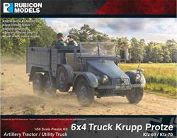 Detailed plastic kit building a model of a German Krupp Protze Kfz 69/70 6x4 truck and artillary tractor. The Kfz 69 was intended to tow a PaK 36 anti-tank guns, while the Kfz 70 was for motorised infantry.Number of Parts: 87 pieces / 2 sprues