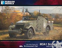 The M3A1 Scout Car, known as the White Scout Car in British & Commonwealth service was an American-produced armoured car that saw wide service during WW2 and beyond.Number of Parts: 85 pieces / 2 sprues + 1 cab body