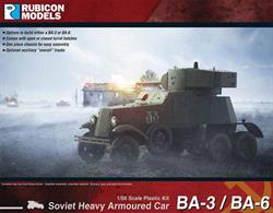Detailed plastic kit building a model of a Soviet Ba-3 or BA-6 heavy armoured car used mainly in the Finland 'Winter War' campaign and in early engangements with German and Japanese forces. Number of Parts: 47 pieces / 1 sprue + 1 cab body