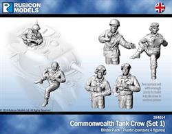 Set of 4 plastic British Commonwealth tank crew figures in various poses. Suitable for use with British and British Commonwealth forces tanks.26 pieces / 2 sprures