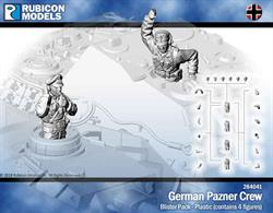 Pack of 4 German panzer tank crew figures with parts to allow various poses to be assembled.