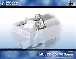 Machine gunner figure for SdKfz 250 or SdKfz 251 half track models.Contains 1 figure.