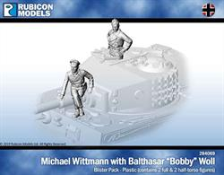 Pack contains two figures for tank commander Michael Wittmann and his gunner, Balthasar 'Bobby' Woll.Parts are supplied to allow both to be assembled as full or half torso figures.