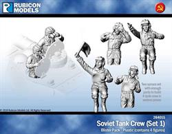 Set of 4 plastic Soviet tank crew in various poses for use with any Soviet tanks.23 pieces / 2 sprures
