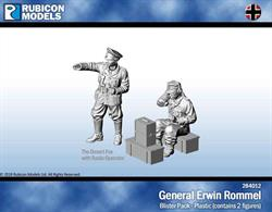 General Erwin Rommel figure with a radio operator and radio set.Comes with 25mm lip bases.No of Parts: 11 pieces / 1 plastic sprue